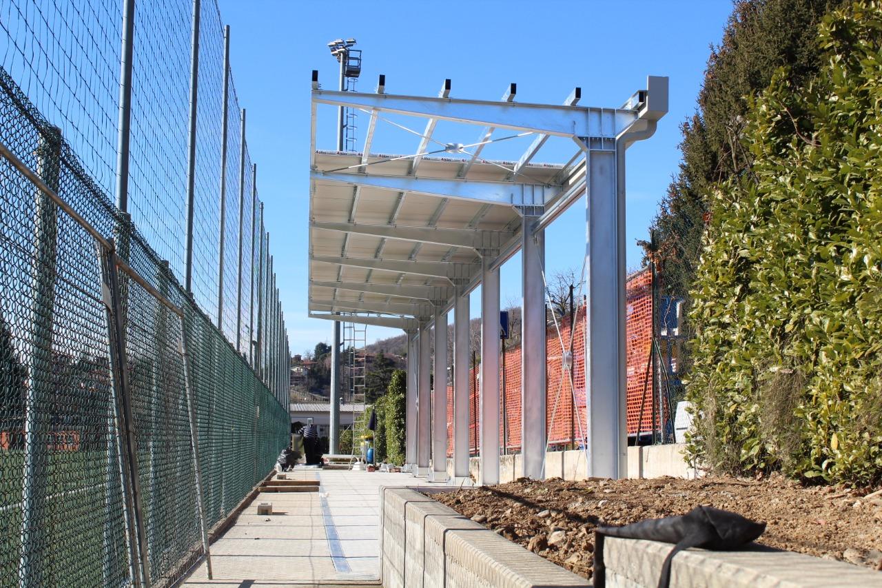 Gallery foto n.4 Copertura a sbalzo - Campo da Calcio