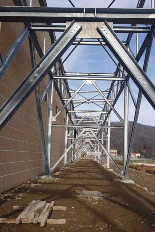 Gallery foto n.1 Structure en tubes d'acier - Établissement Zincol Ossidi