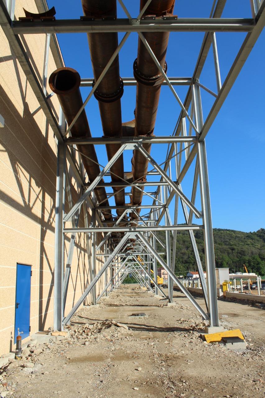 Gallery foto n.2 Structure en tubes d'acier - Établissement Zincol Ossidi
