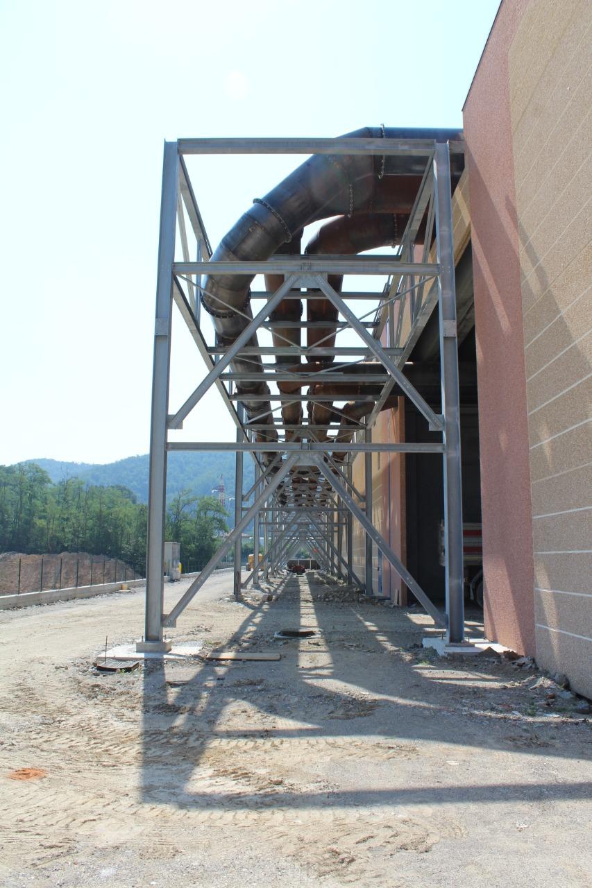Gallery foto n.3 Structure en tubes d'acier - Établissement Zincol Ossidi