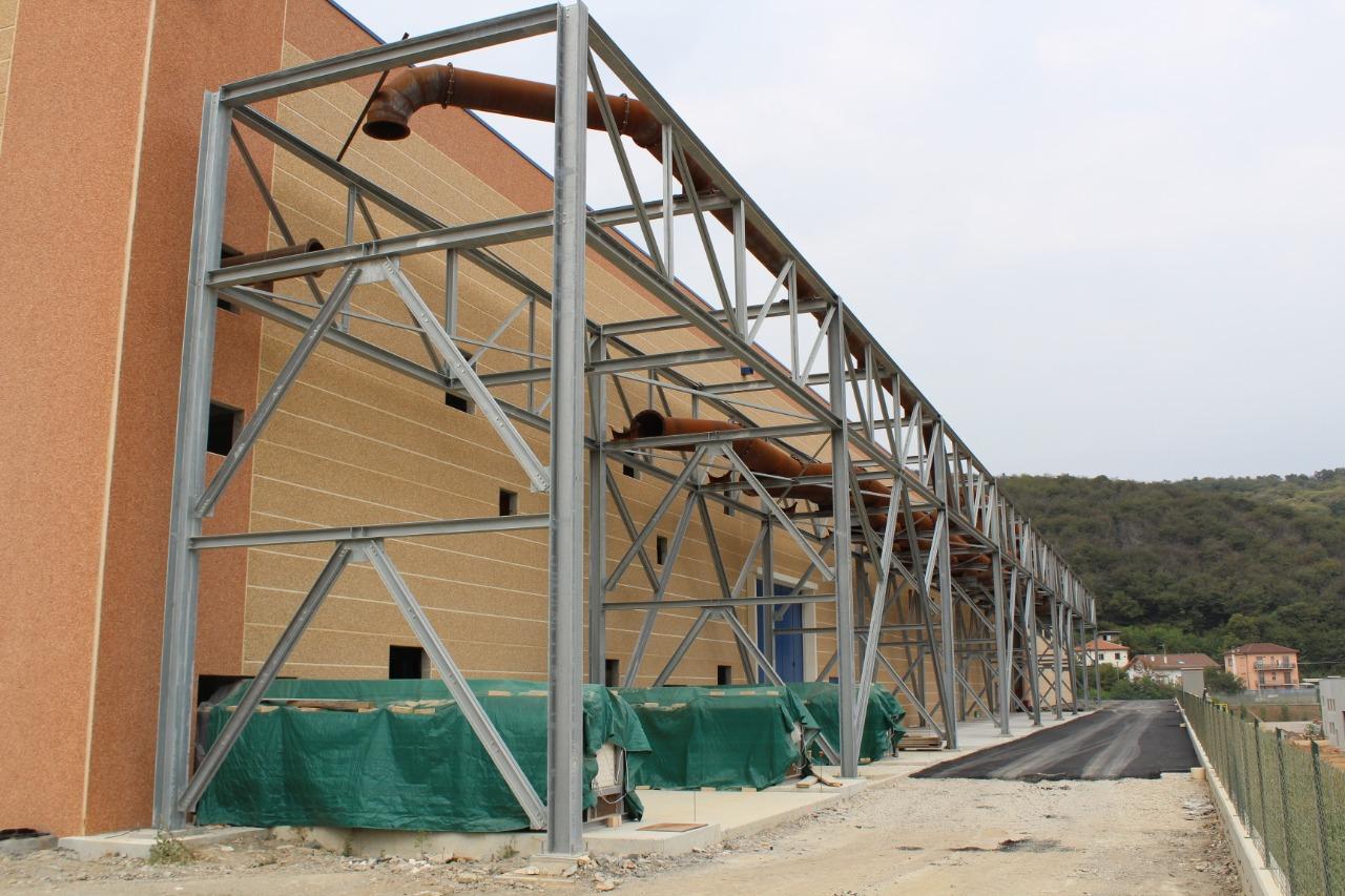Gallery foto n.5 Structure en tubes d'acier - Établissement Zincol Ossidi