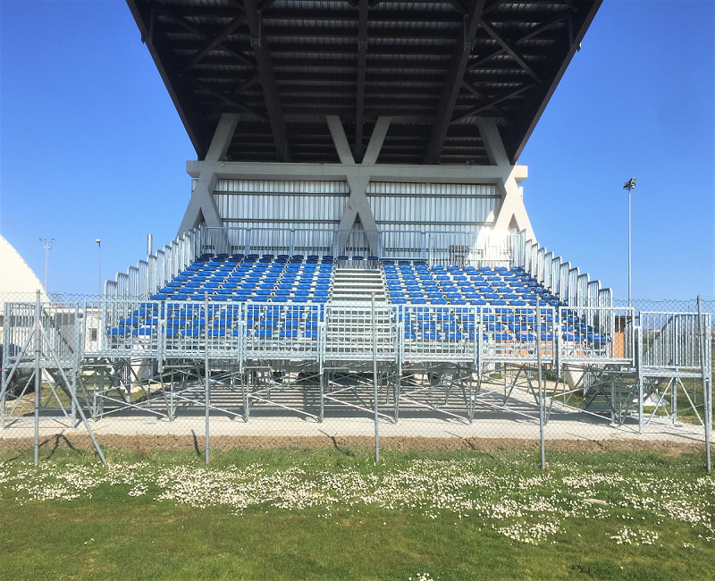 Prefabricated Grandstand at the Sports Field