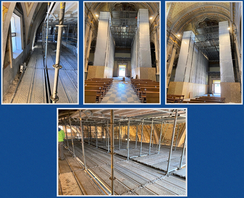 CETA Scaffolding for the Repair of the Cathedral in Oristano