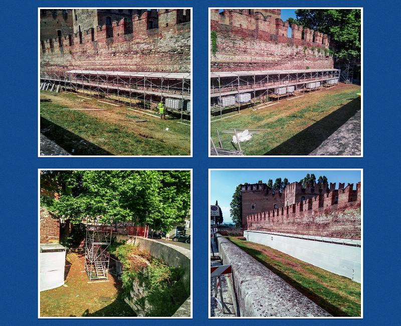 CETA Scaffolding for Castelvecchio in Verona