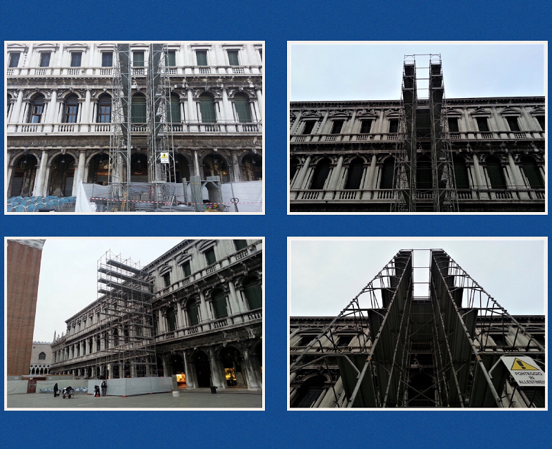 Ponteggi CETA per il Museo Correr a Venezia