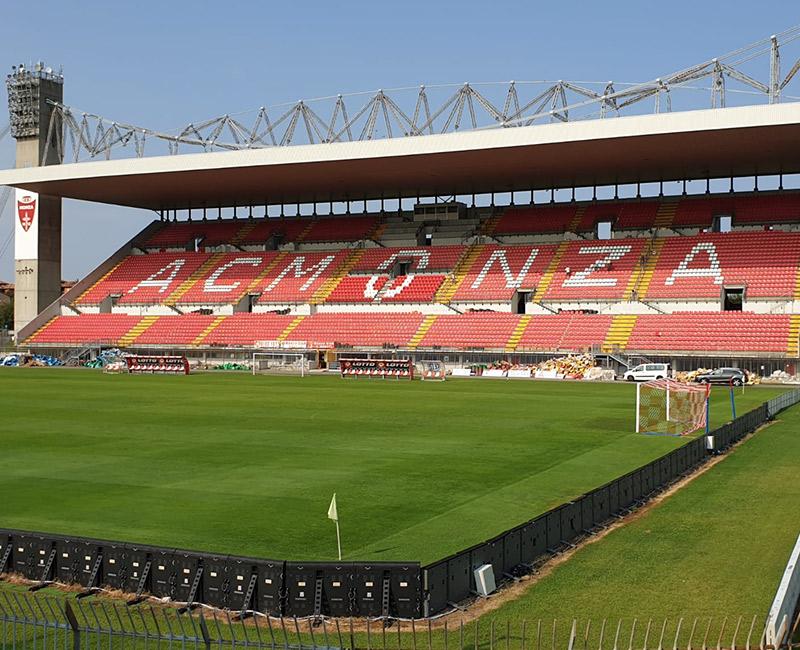 AC Monza calcio, nuovo look dello stadio Brianteo