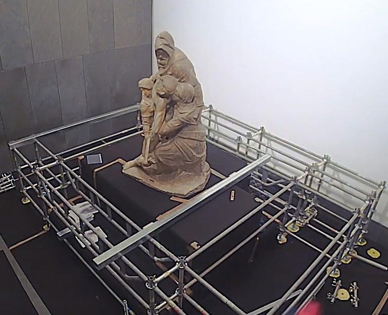 Restauro della Pietà di Michelangelo nel Duomo di Firenze con il ponteggio Multiceta
