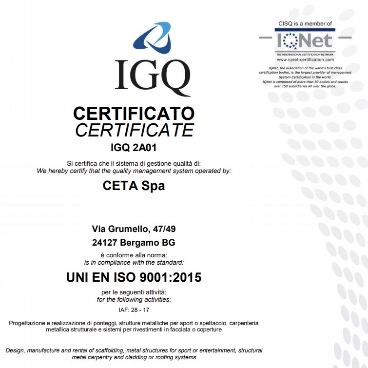 Renewal of the Certificate for Quality System