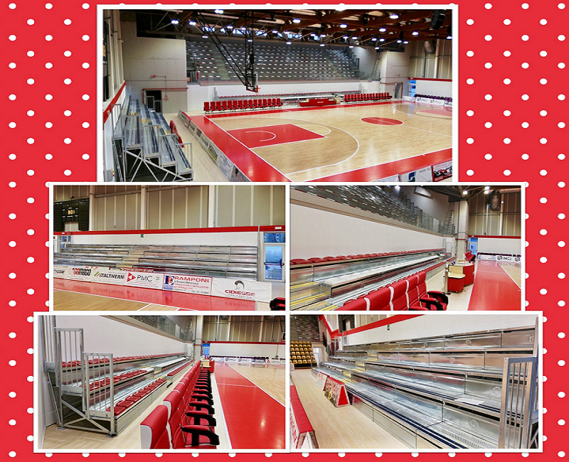 Prefabricated Grandstands at the Sports Hall of Cento