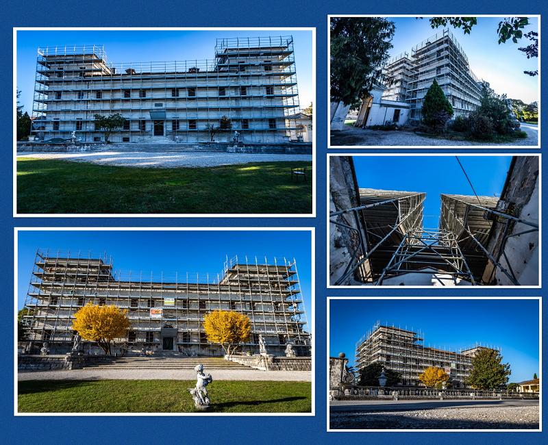 Ponteggi CETA per il Restauro della Villa Ca' Rezzonico