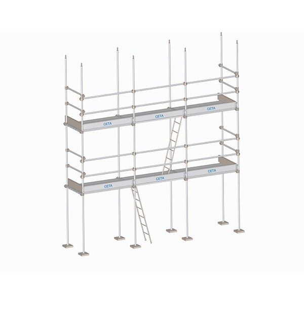 Tubes and coupler scaffolding
