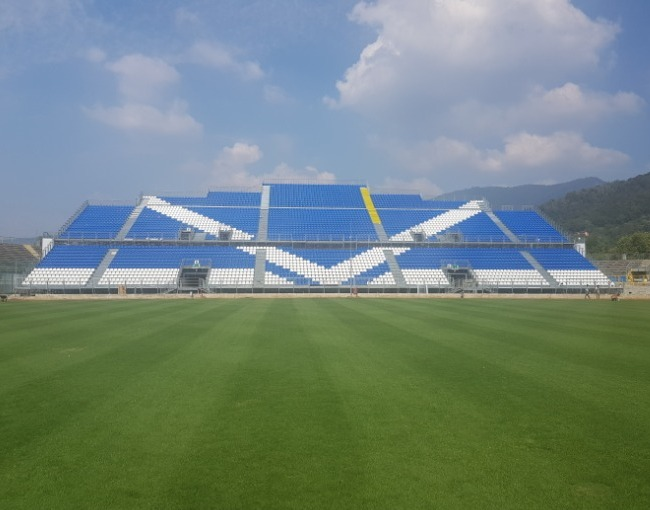 Prefabricated stands - Mario Rigamonti Stadium