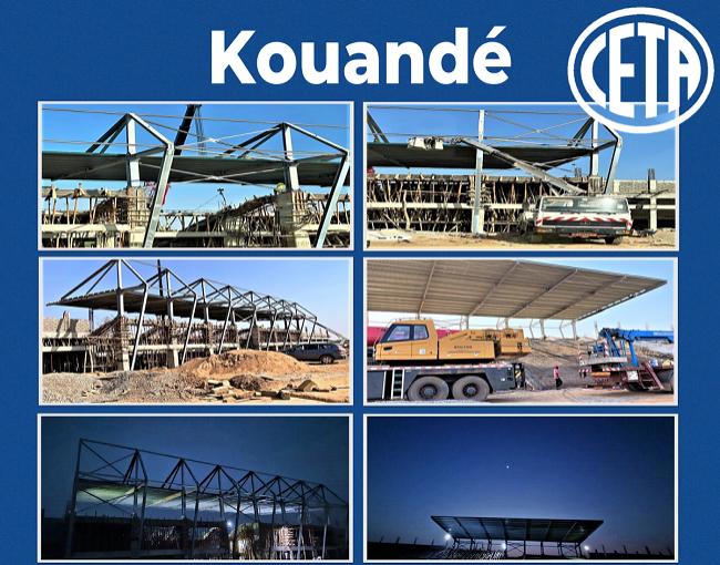 Copertura a sbalzo - stadio di Kouandé