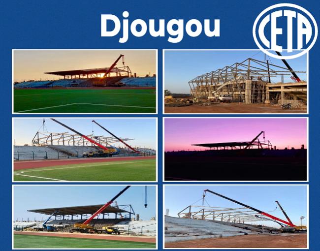 Copertura a sbalzo - stadio di Djougou