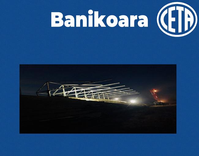Copertura a sbalzo - stadio di Banikoara