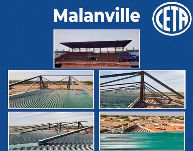 Copertura a sbalzo - stadio di Malanville