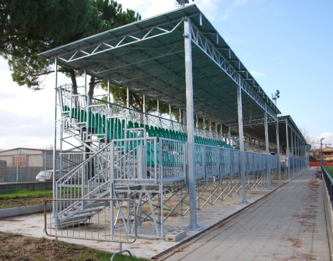 Prefabricated stands - Enrico Chersoni Stadium