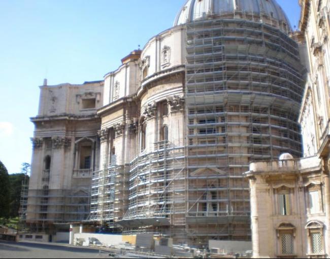 Tubes & Coupler scaffolding - Restoration of Saint Peter's Basilica