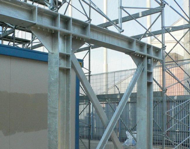 Support scaffolding - Carlo Castellani Stadium