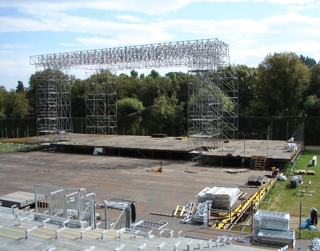 Stage under construction - Opera Festival