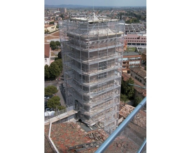 Tubes & Coupler scaffolding - Restoration of a Cathedral Bell tower