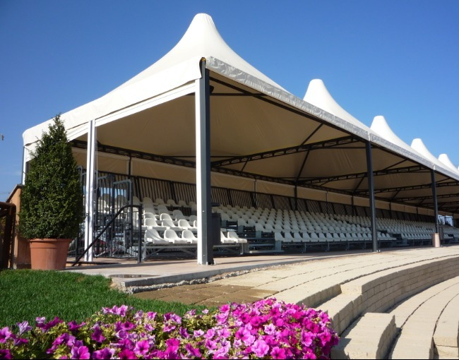 Prefabricated stand 2M4/0a - Equestrian Center