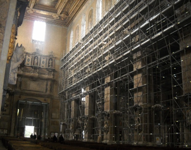 Tubes & Coupler scaffolding - Restoration of Saint Gennaro's Cathedral