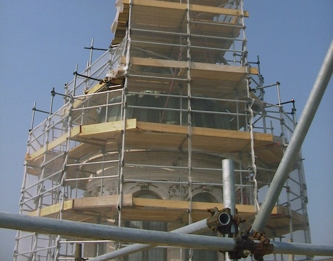 Tubes & Coupler scaffolding - Restoration of a Cathedral